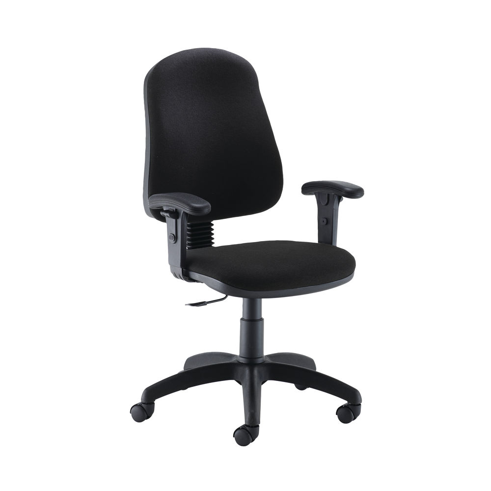 Jemini Teme Mid Back Single Lever Office Chair Adjustable Arms in Black