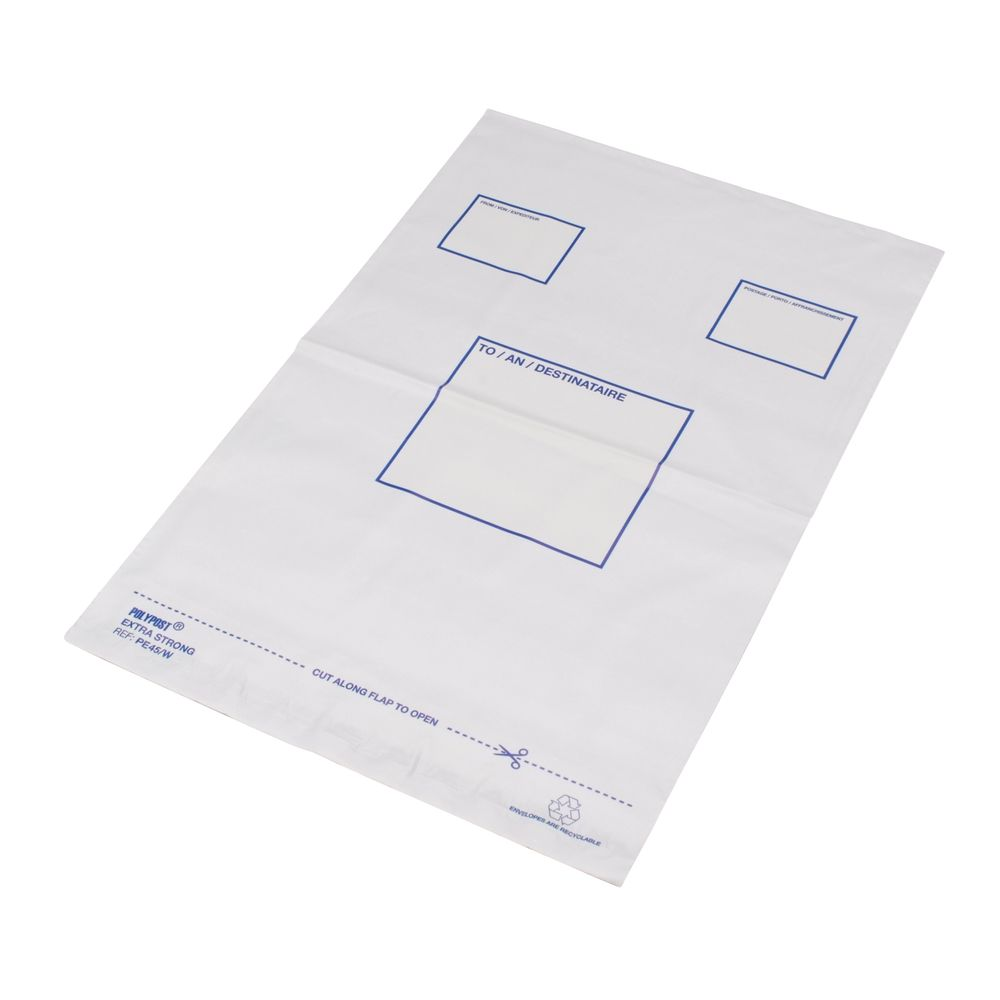 Polylope White Extra Strong Envelope (Pack of 100) – BSB-201