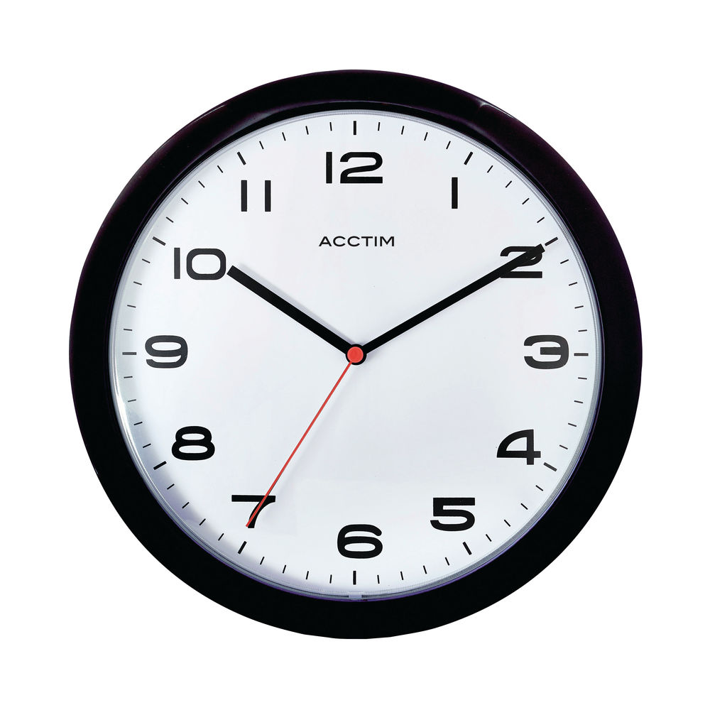 Acctim Aylesbury Black Wall Clock - 92/302