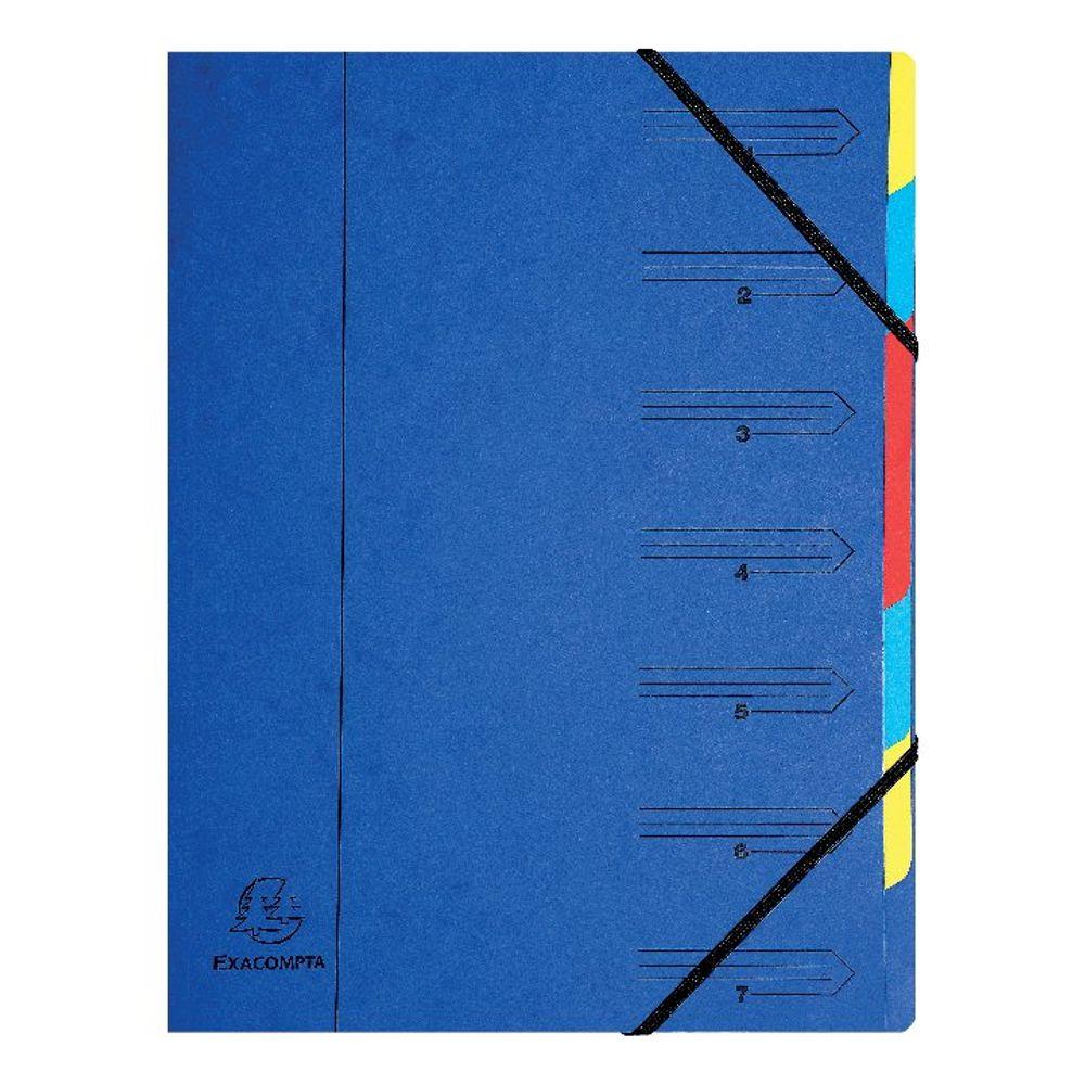 Europa A4 Blue 7 Part Organiser - 54072E