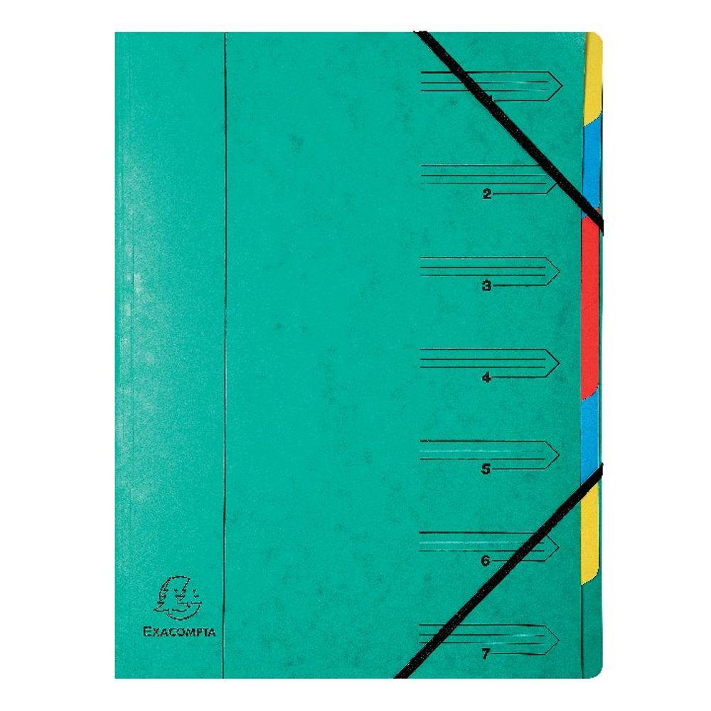 Europa A4 Green 7 Part  Organiser - 54073E