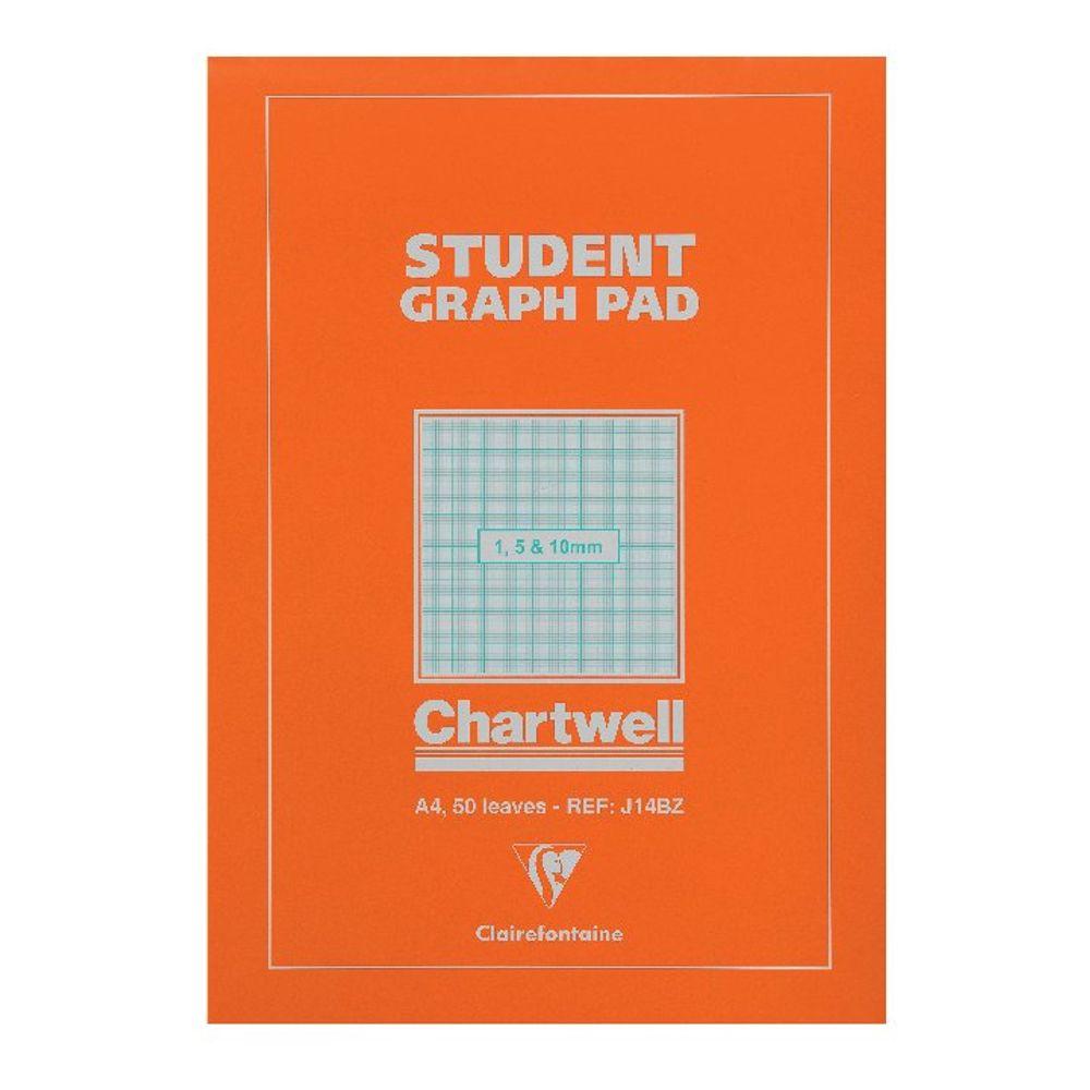 Chartwell Student A4 Graph Pad 50 Leaf 1, 5, 10mm  - 12801X
