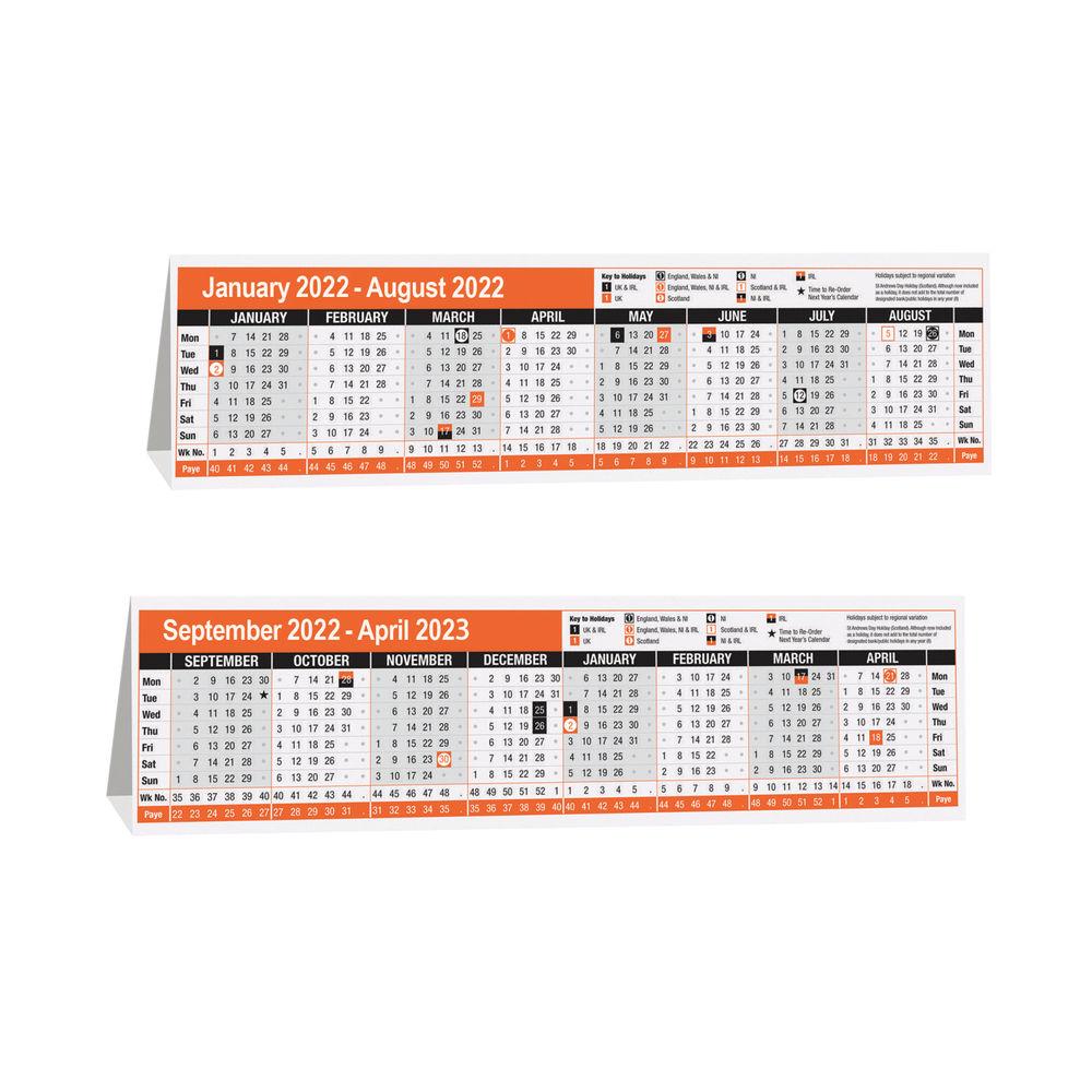 16 Month Desktop Calendar 2022 KF3004022