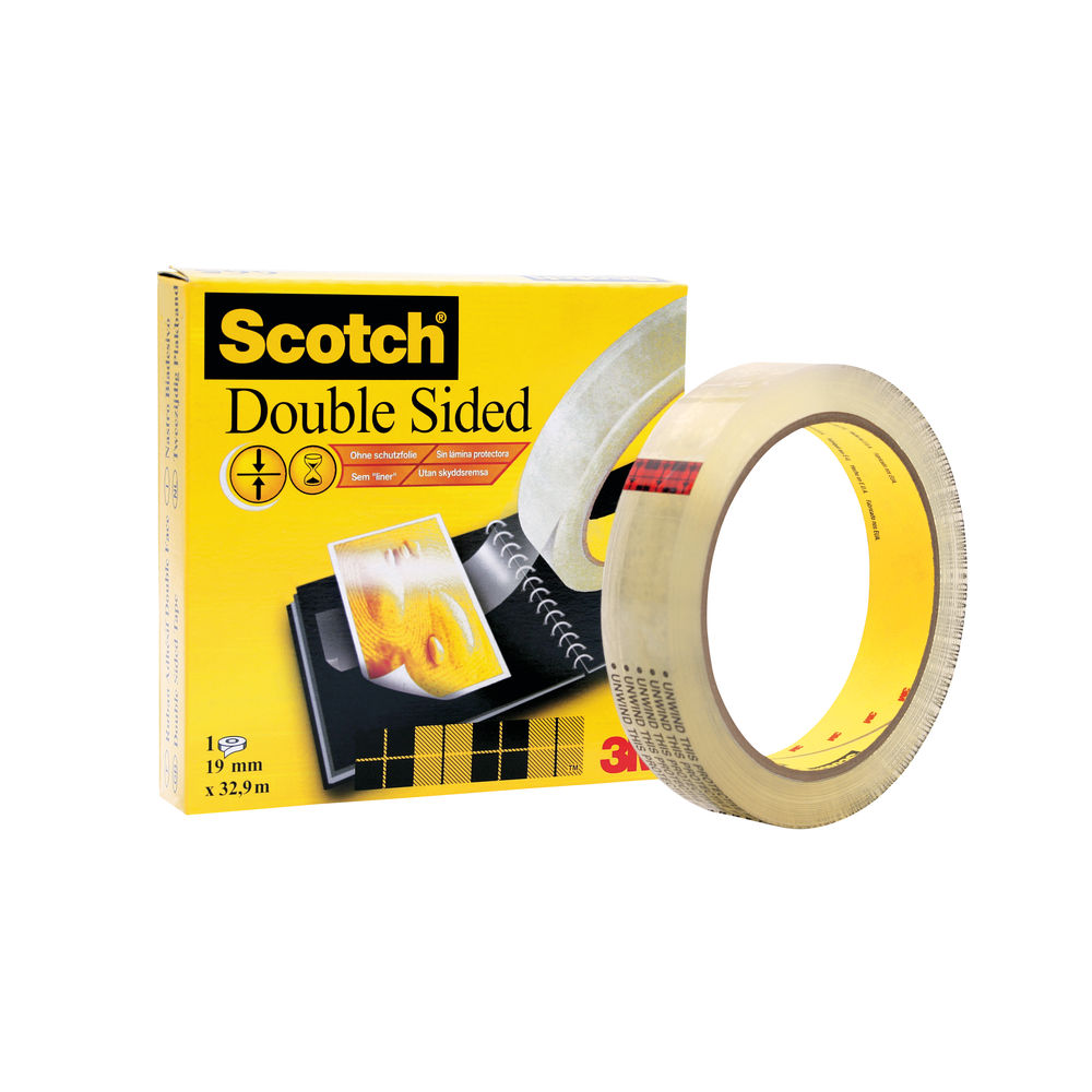 Scotch Durable Double Sided Tape 19mmx33m Transparent 6651933