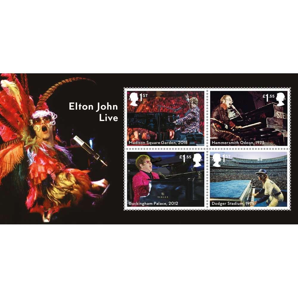 The Elton John Miniature Sheet
