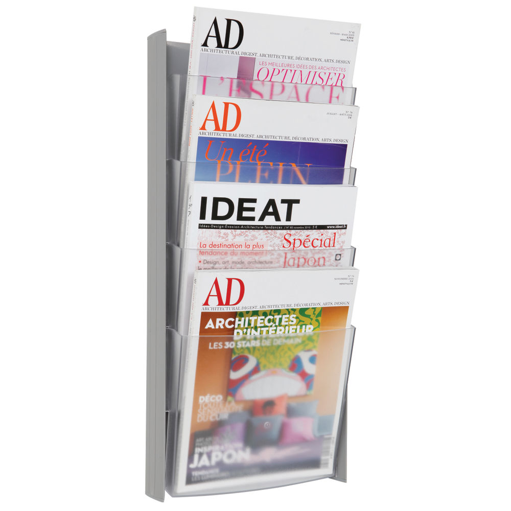 Alba Wall Display Unit 4 Pocket A4 Metallic DDPROGMM