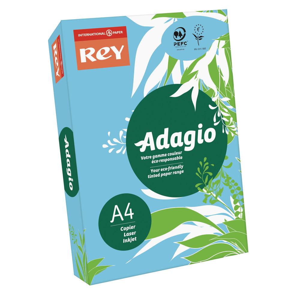 Rey Adagio Bright Blue A4 Coloured Card, 160gsm - ABBE2116