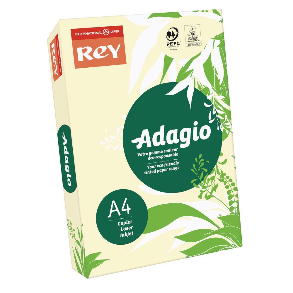 Rey Adagio Pastel Ivory A4 Coloured Card, 160gsm AI2116
