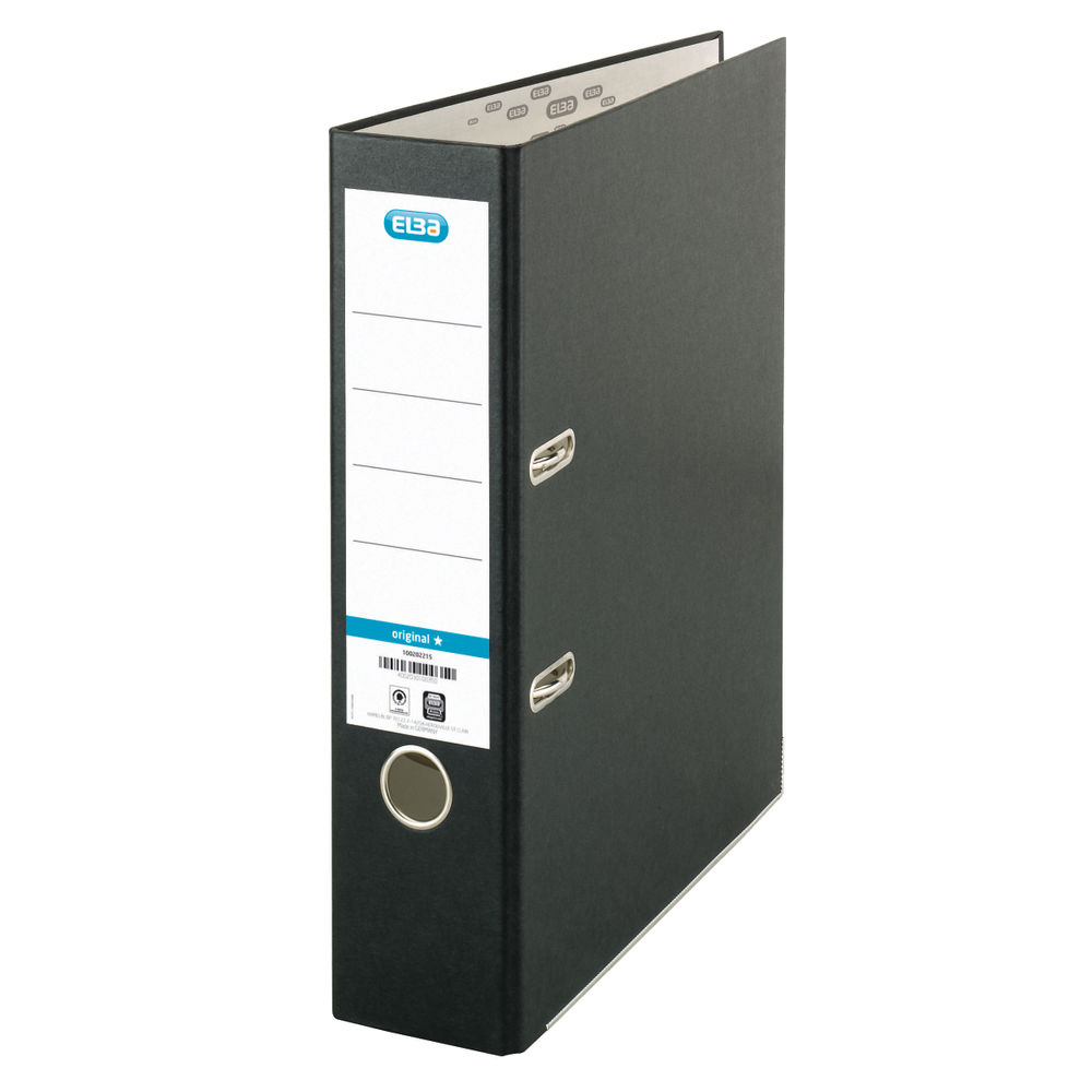 Elba PVC Black A4 Lever Arch File 70mm - Pack of 10 - BX09610