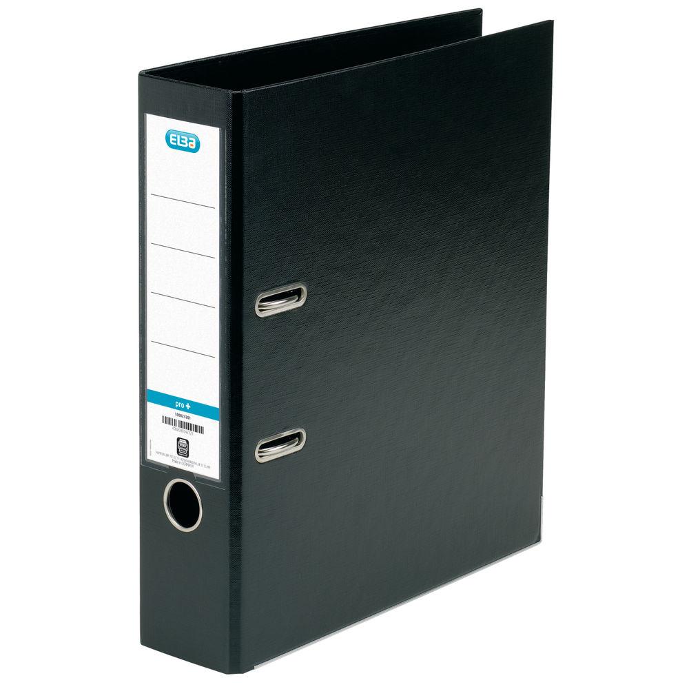 Elba PVC Black A4 Lever Arch File 70mm - 1450-10