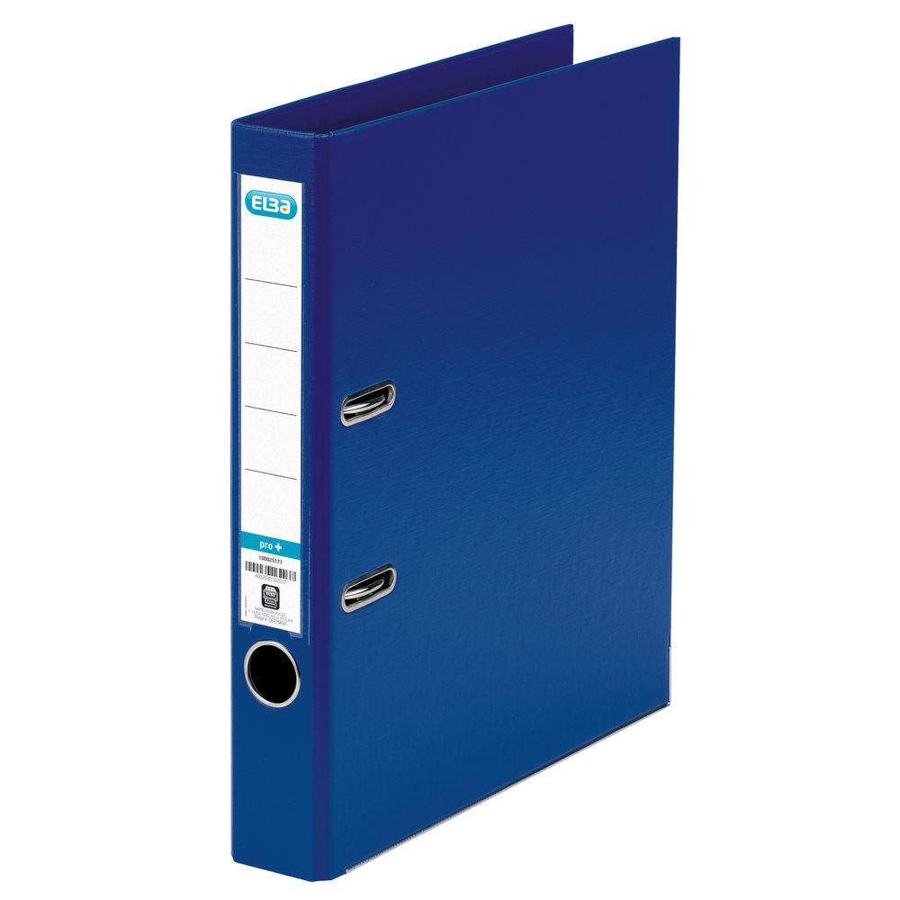 Elba PVC Blue A4 Lever Arch File 50mm - 145101