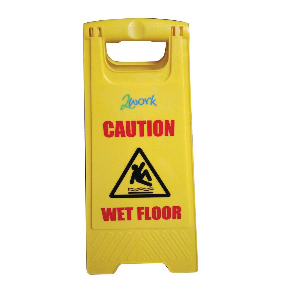 2Work Caution Wet Floor Sign A-Frame - 101423