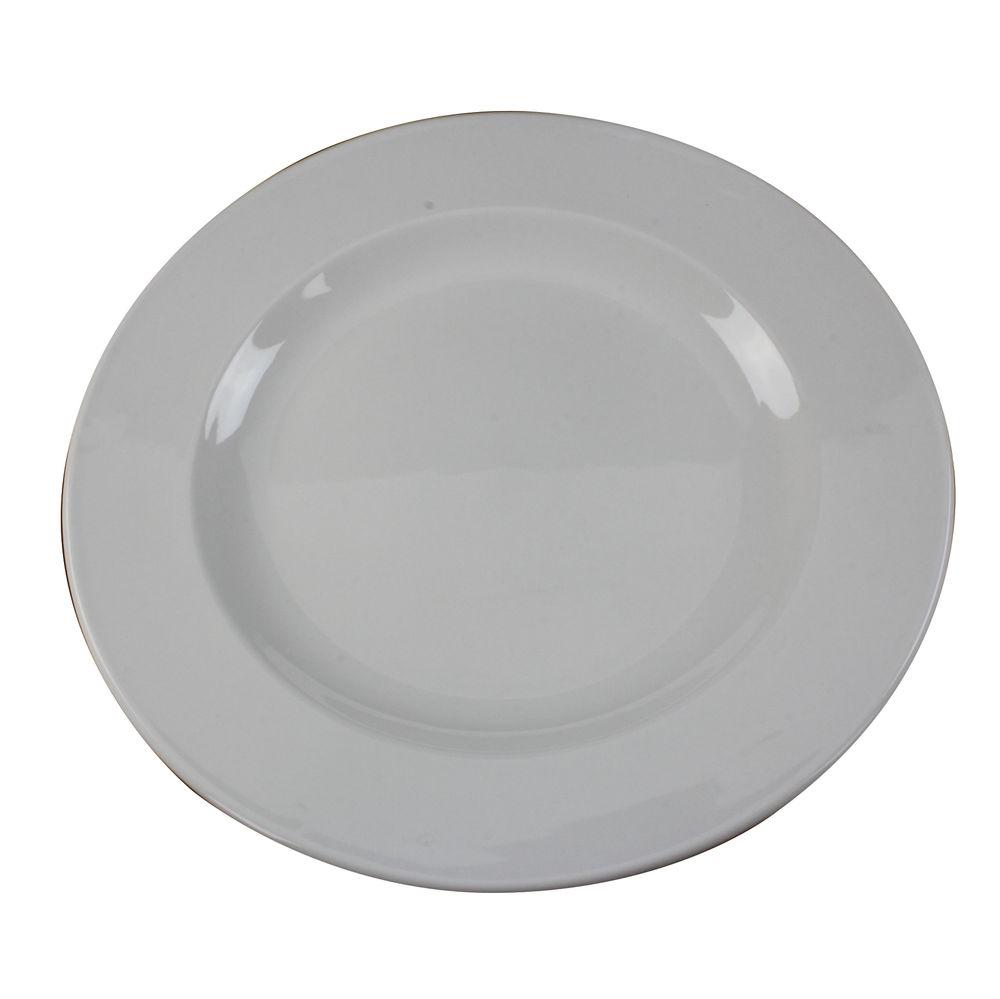 250mm White Porcelain Plates, Pack of 6 - 304111