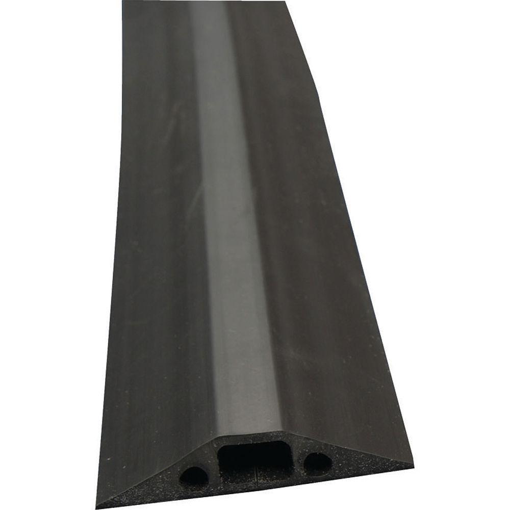 D-Line floor Cable Cover Black 68mm Wide 1.8m length c/w connectors FC68B