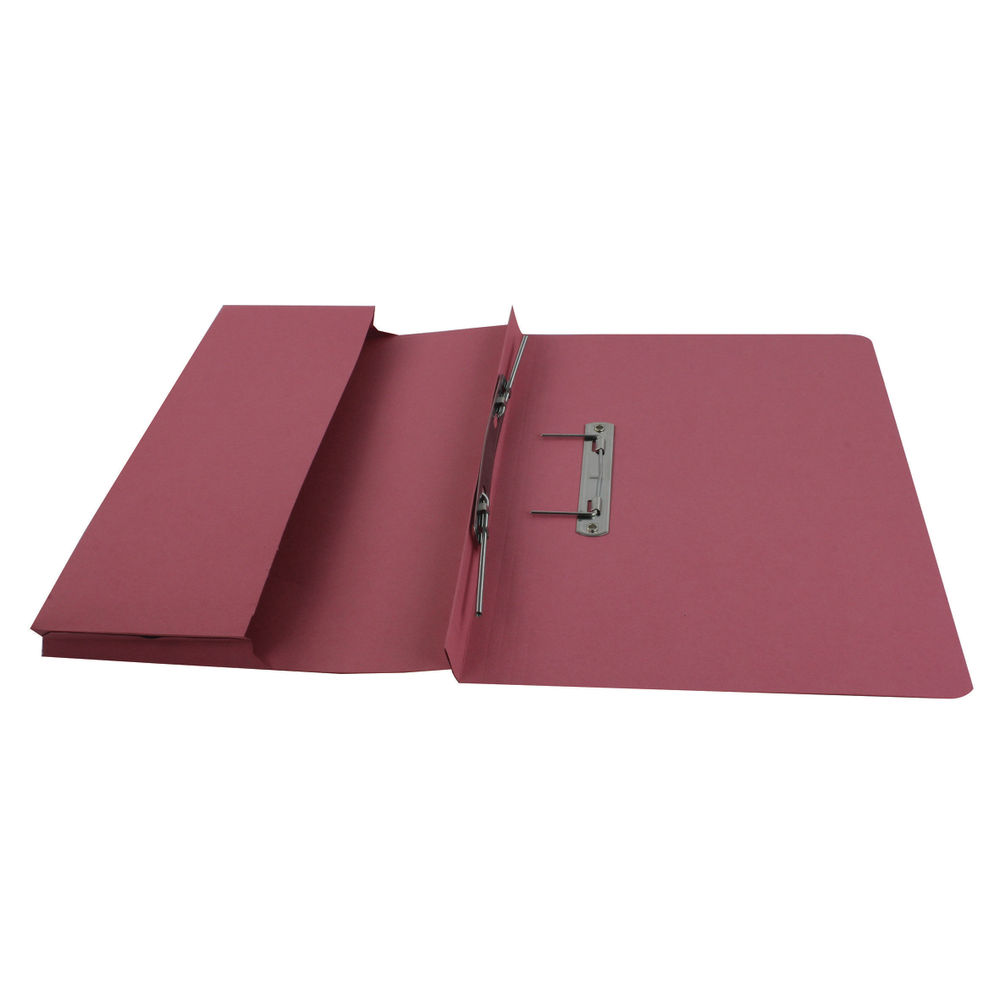 Rexel Jiffex Foolscap Transfer File with Pocket in Pink - WG017188
