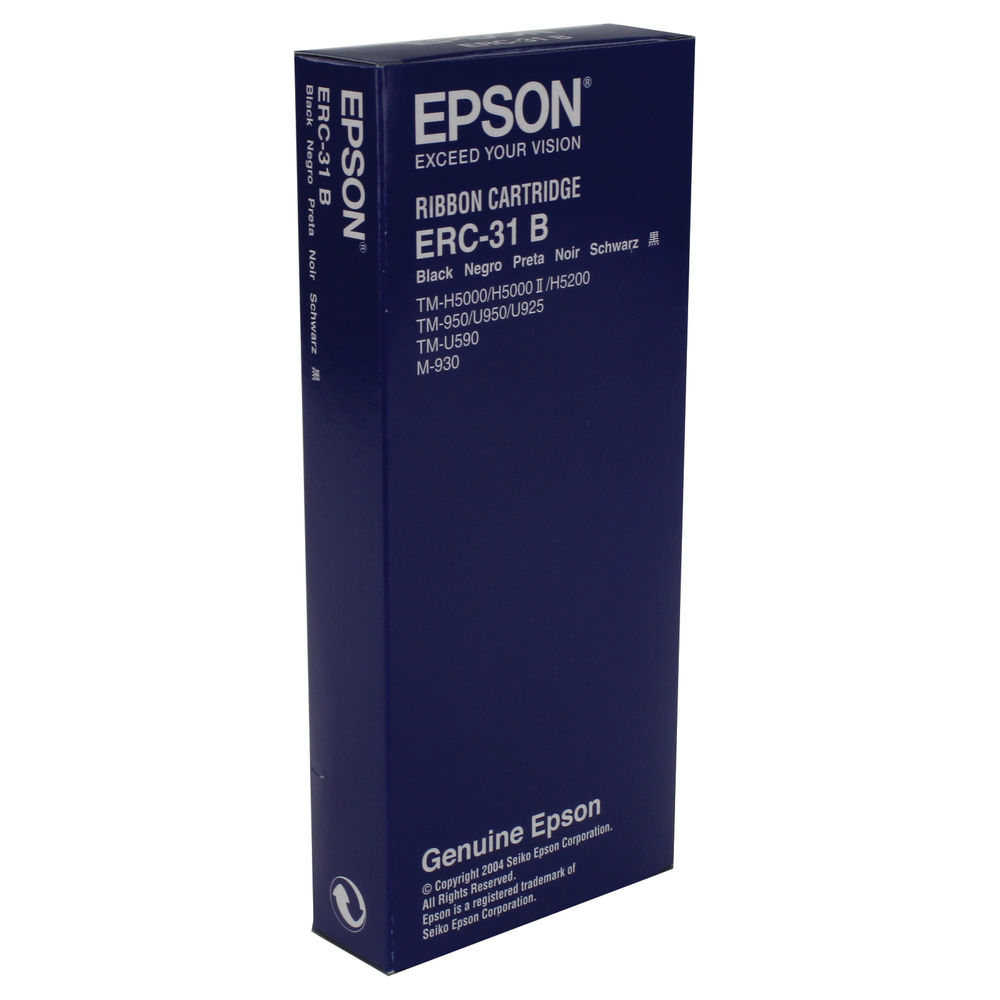 Epson ERC-31B Black Fabric Ribbon- C43S015369