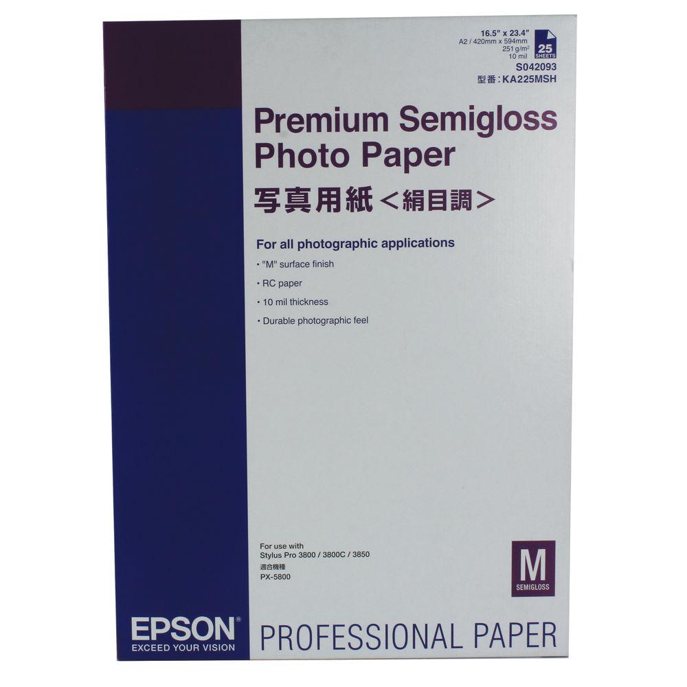 Epson Premium White WA2 Semi-Gloss Photo Paper, 251gsm - 25 Sheets - C13S042093