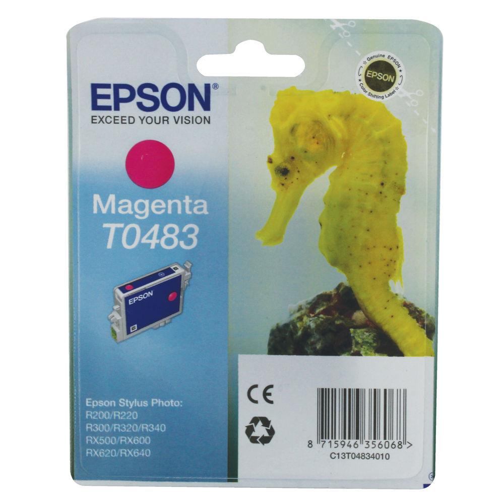Epson T0483 Magenta Ink Cartridge - C13T04834010