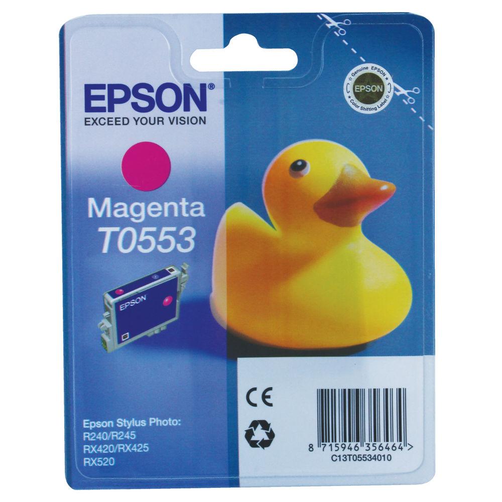 Epson T0553 Magenta Ink Cartridge - C13T05534010