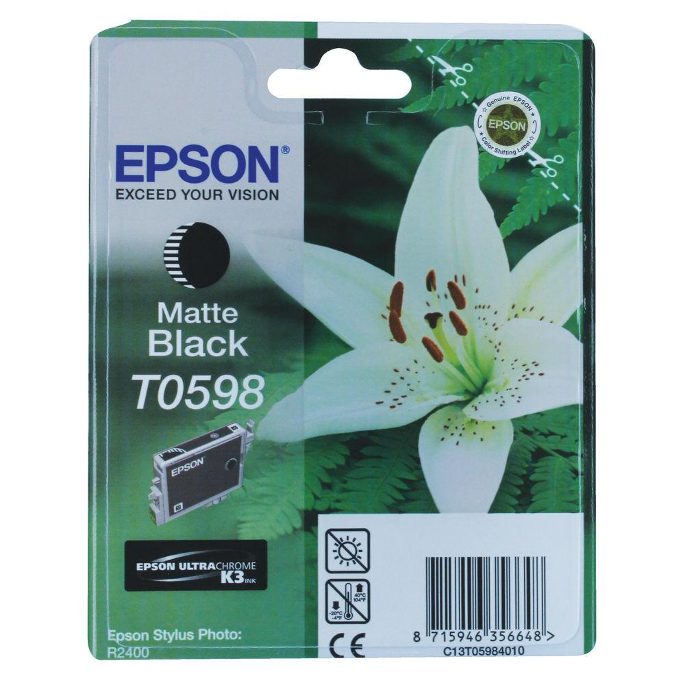Epson T0598 Matte Black Ink Cartridge- C13T05984010