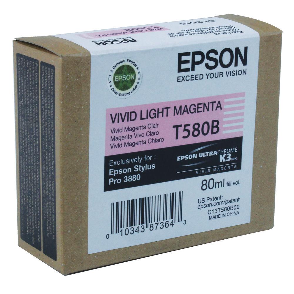 Epson T580B00 Light Magenta Inkjet Cartridge C13T580B00 / T580B00