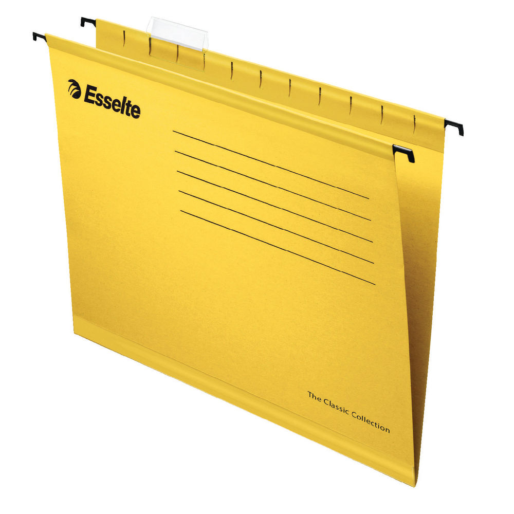 Esselte A4 Yellow Classic Suspension Files, Pack of 25 | 90314
