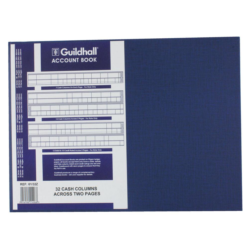 Guildhall 61 Series, 32 Cash Columns Account Books - 1406