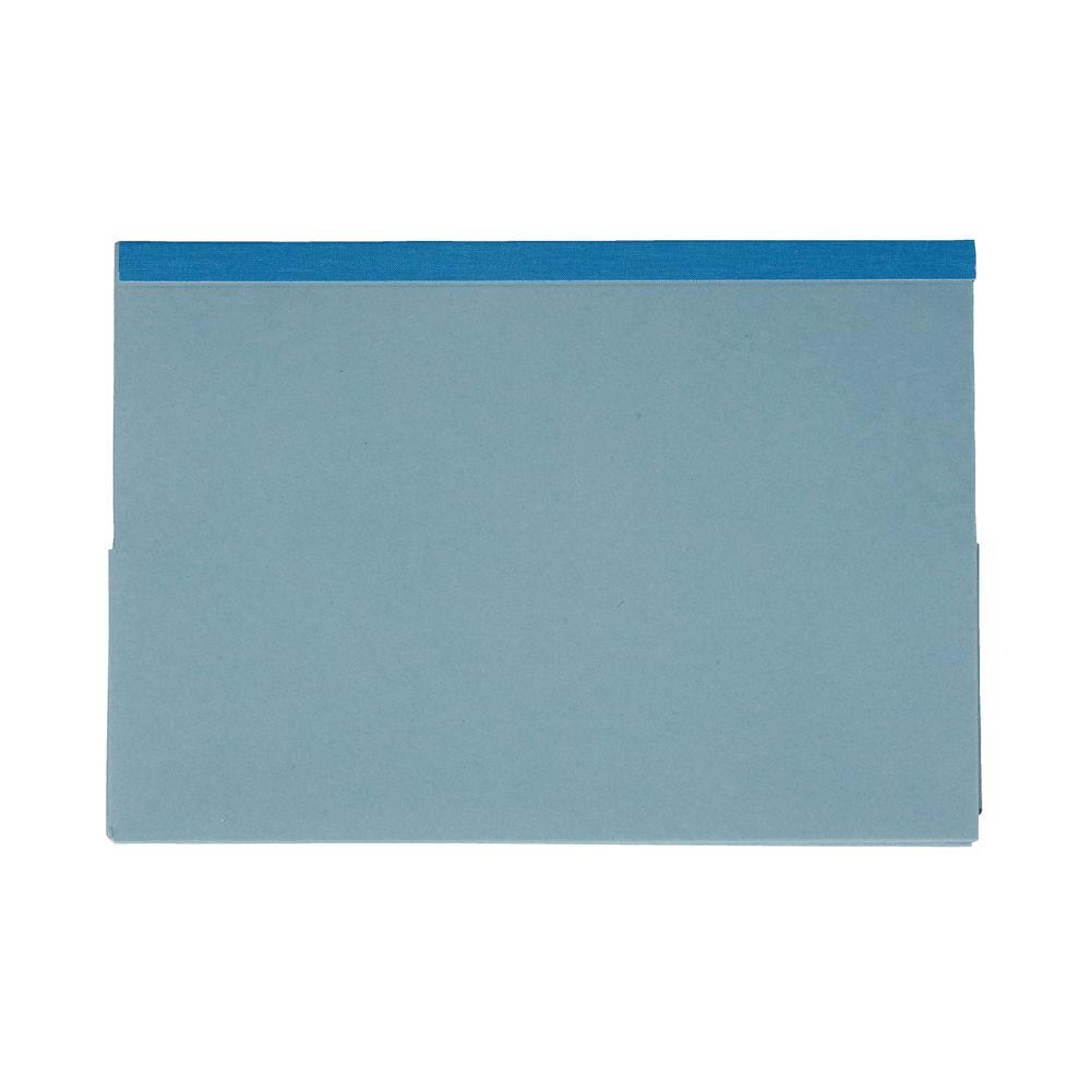Exacompta Guildhall Reinforced Legal Double Pocket Wallet Blue (Pack of 25) 218-BLU