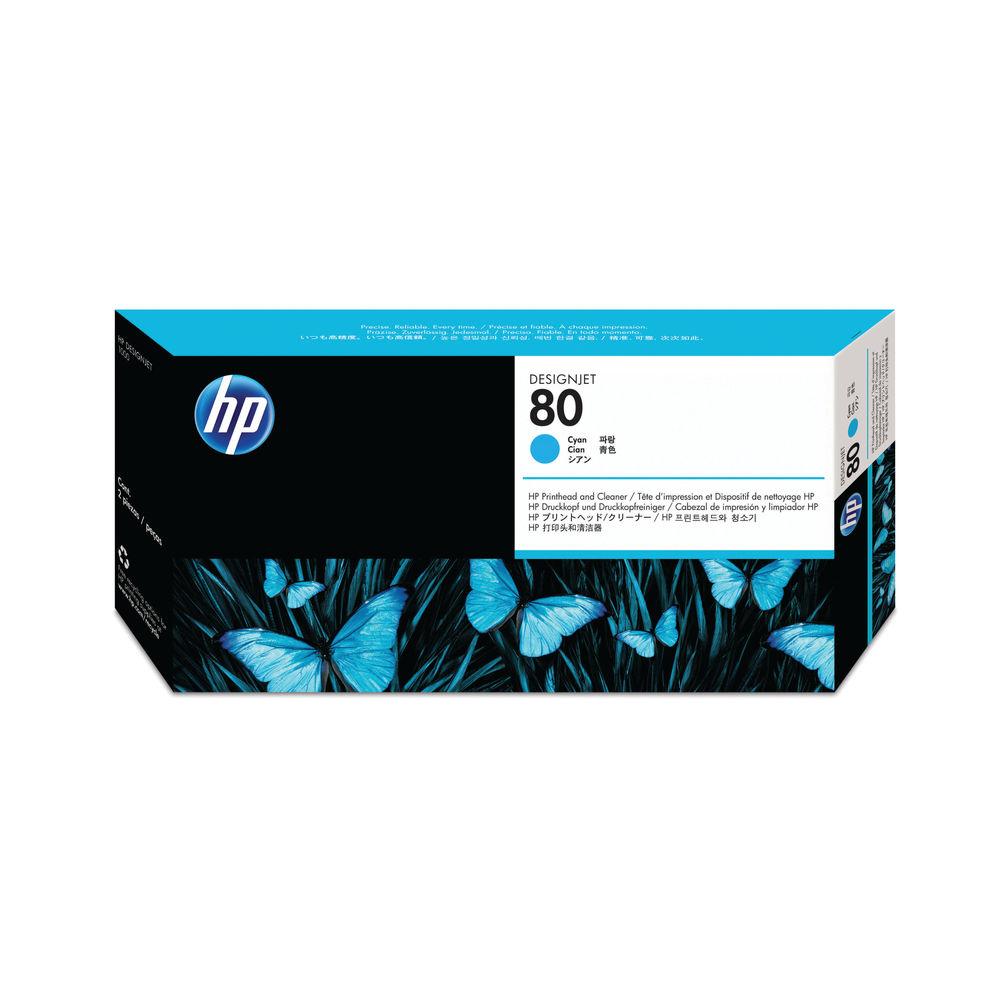HP 80 Cyan Printhead and Cleaner | C4821A