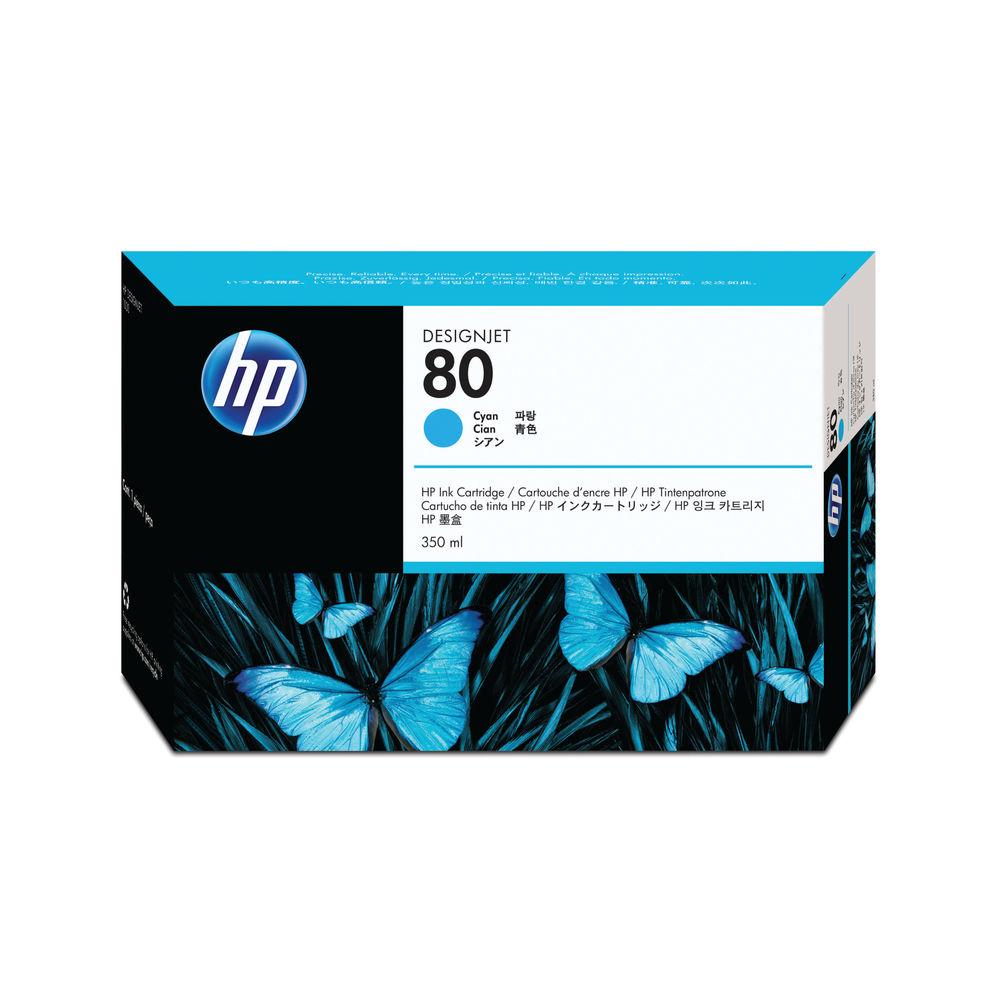 HP 80 Cyan High Yield Ink Cartridge | C4846A