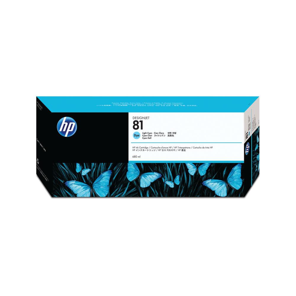 HP 81 Light Cyan Standard Yield Ink Cartridge | C4934A