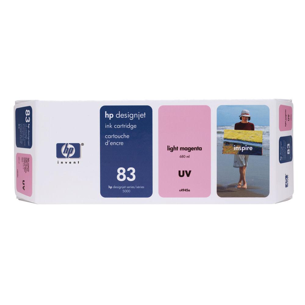 Hp 83 Light Magenta Uv Inkjet Cartridge C4945a 81 Yellow Designjet Dye Printhead And Cleaner Original