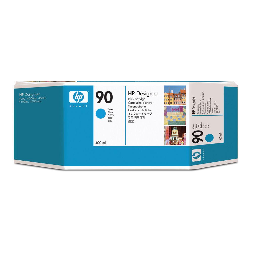 HP 90 Cyan Inkjet Cartridge High Yield 400ml Capacity C5061A