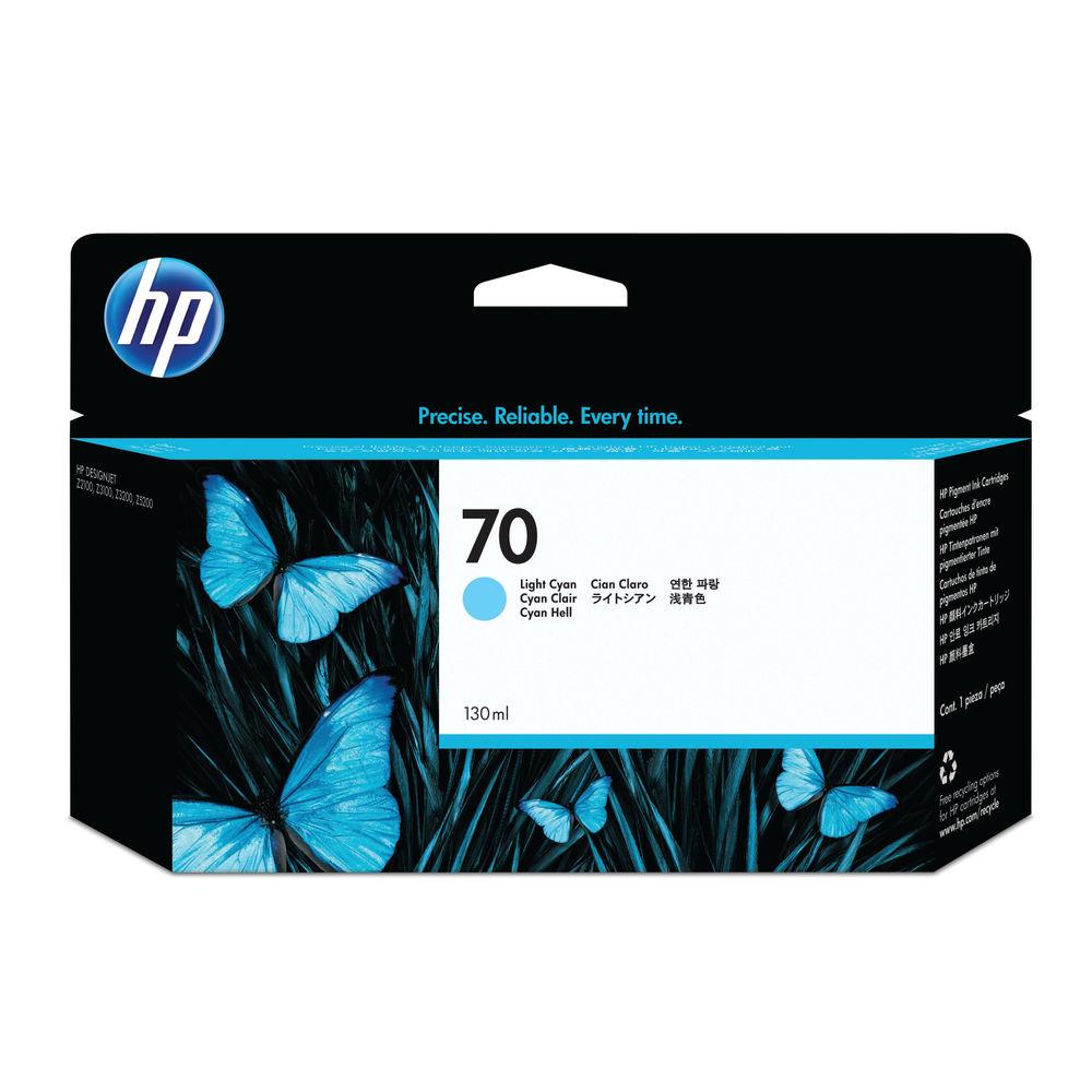 HP 70 Light Cyan Ink Cartridge - C9390A