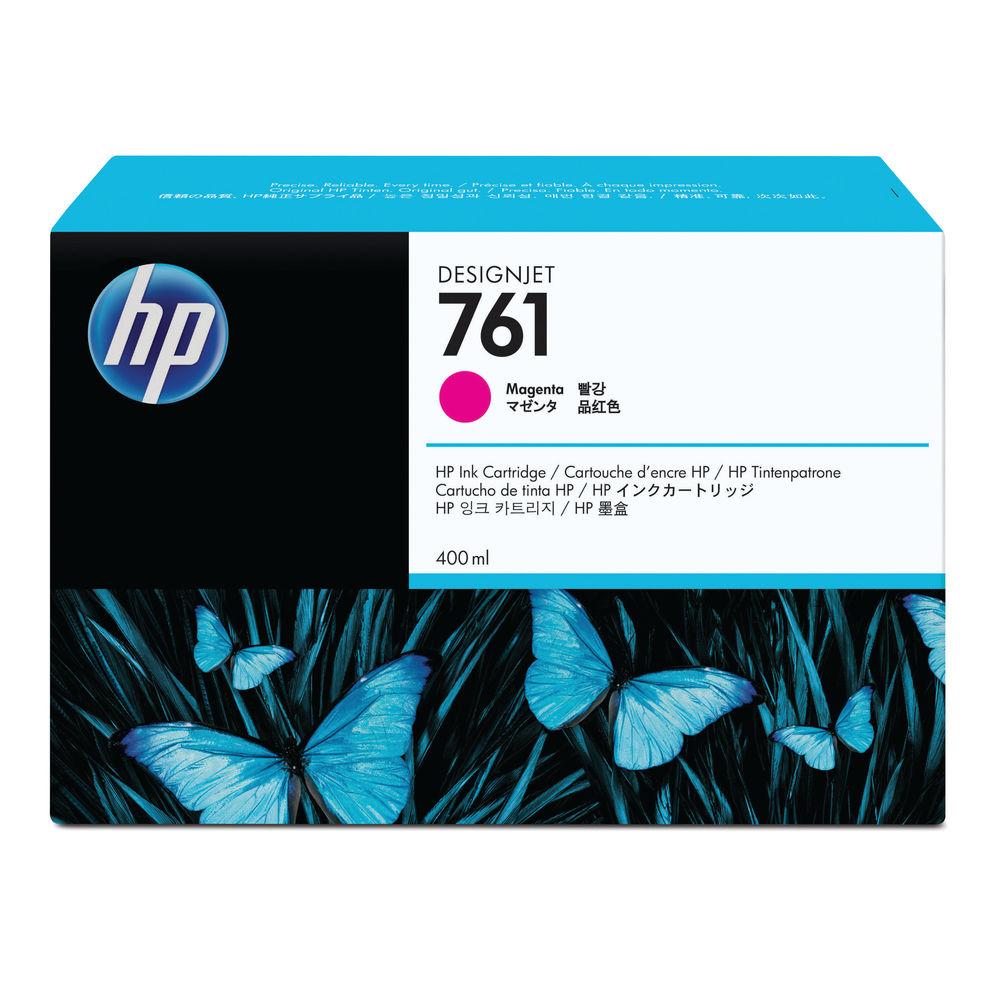HP 761 Magenta Designjet Inkjet Cartridge (Capacity 400ml) CM993A