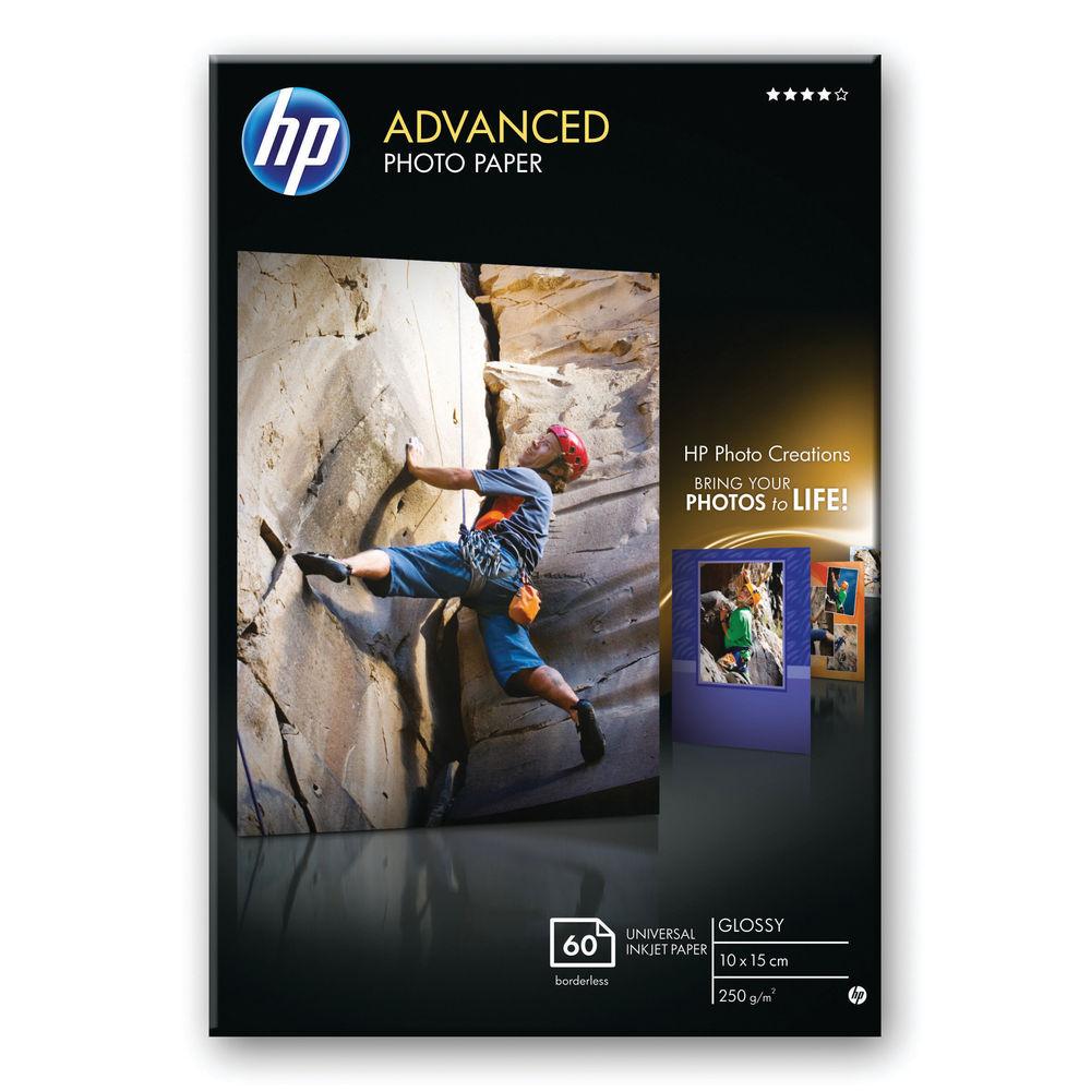 HP Advanced 10x15cm Glossy Borderless Paper, 250gsm - 25 Sheets - Q8691A
