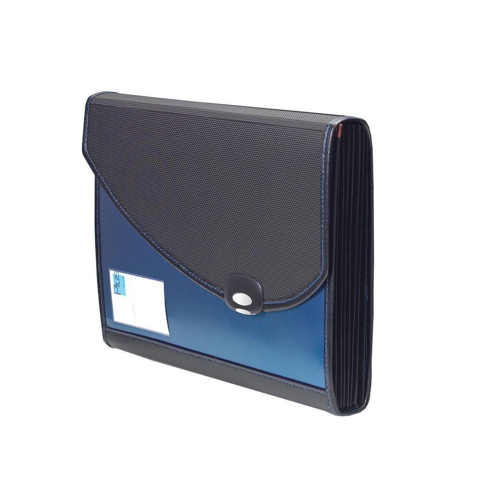 Rapesco Designer Expanding File 7-Part Polypropylene A4 Plus Blue 0679