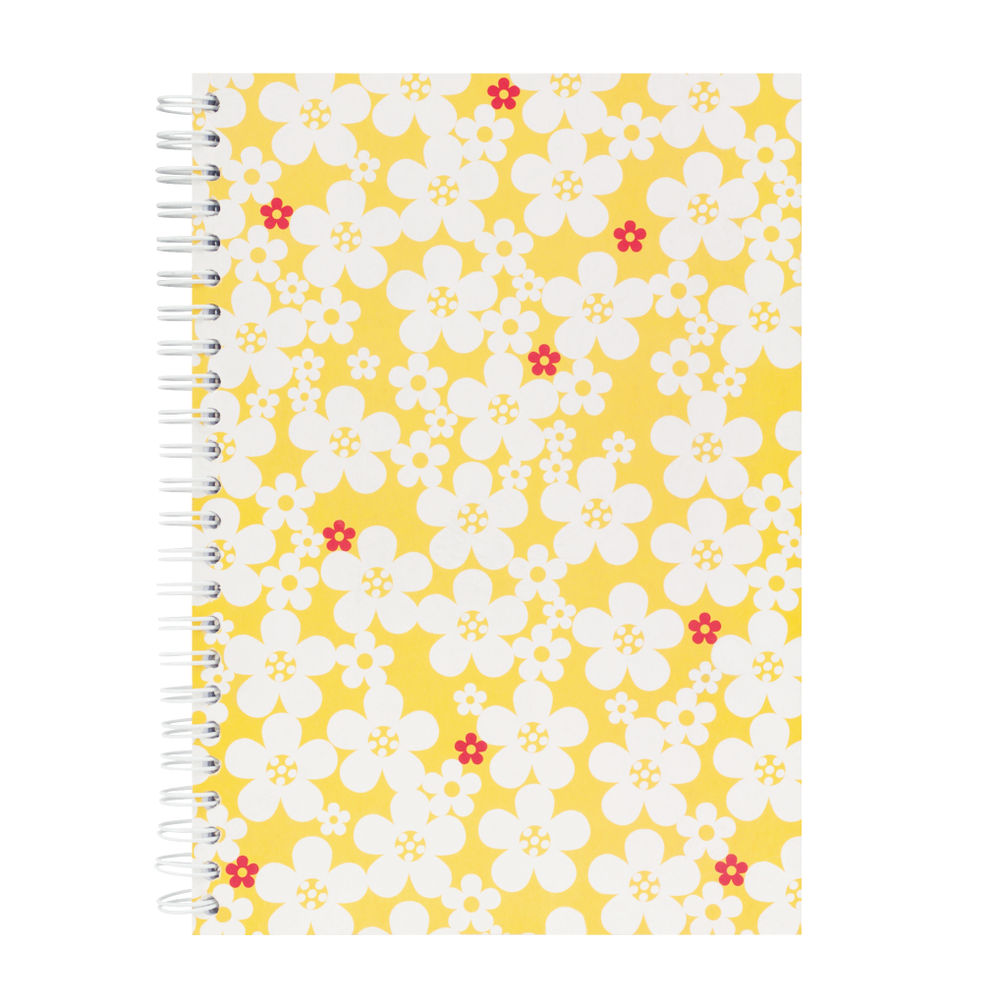 Go Stationery Yellow Butterfly Daisy A5 Notebook – 5NC301