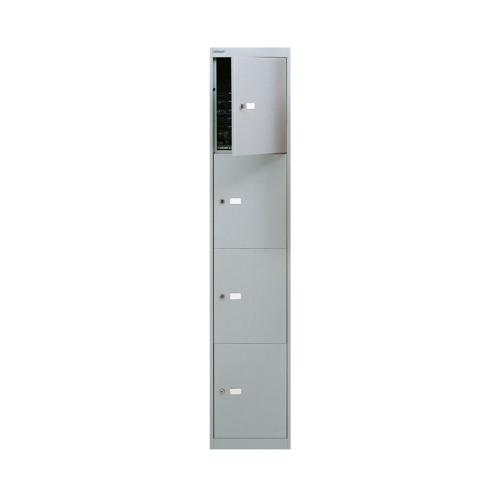 Bisley D305mm Goose Grey 4 Door Locker - CLK124 GOOSE