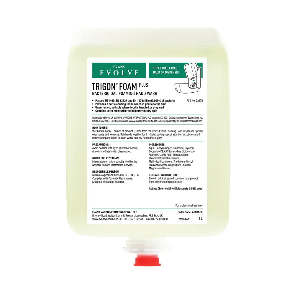 Evans Evolve 1 Litre Trigon Foam Hand Wash - A063BEV