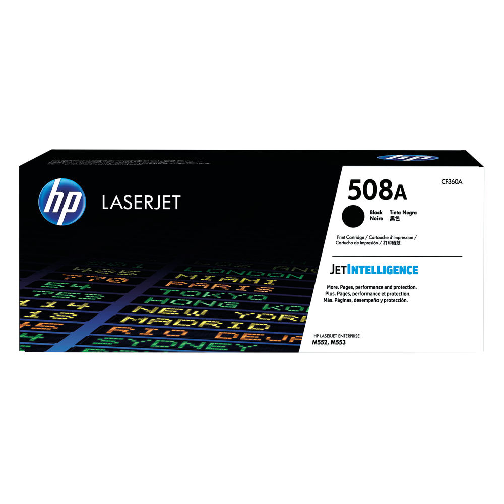 HP 508A Black Laserjet Toner Cartridge CF360A