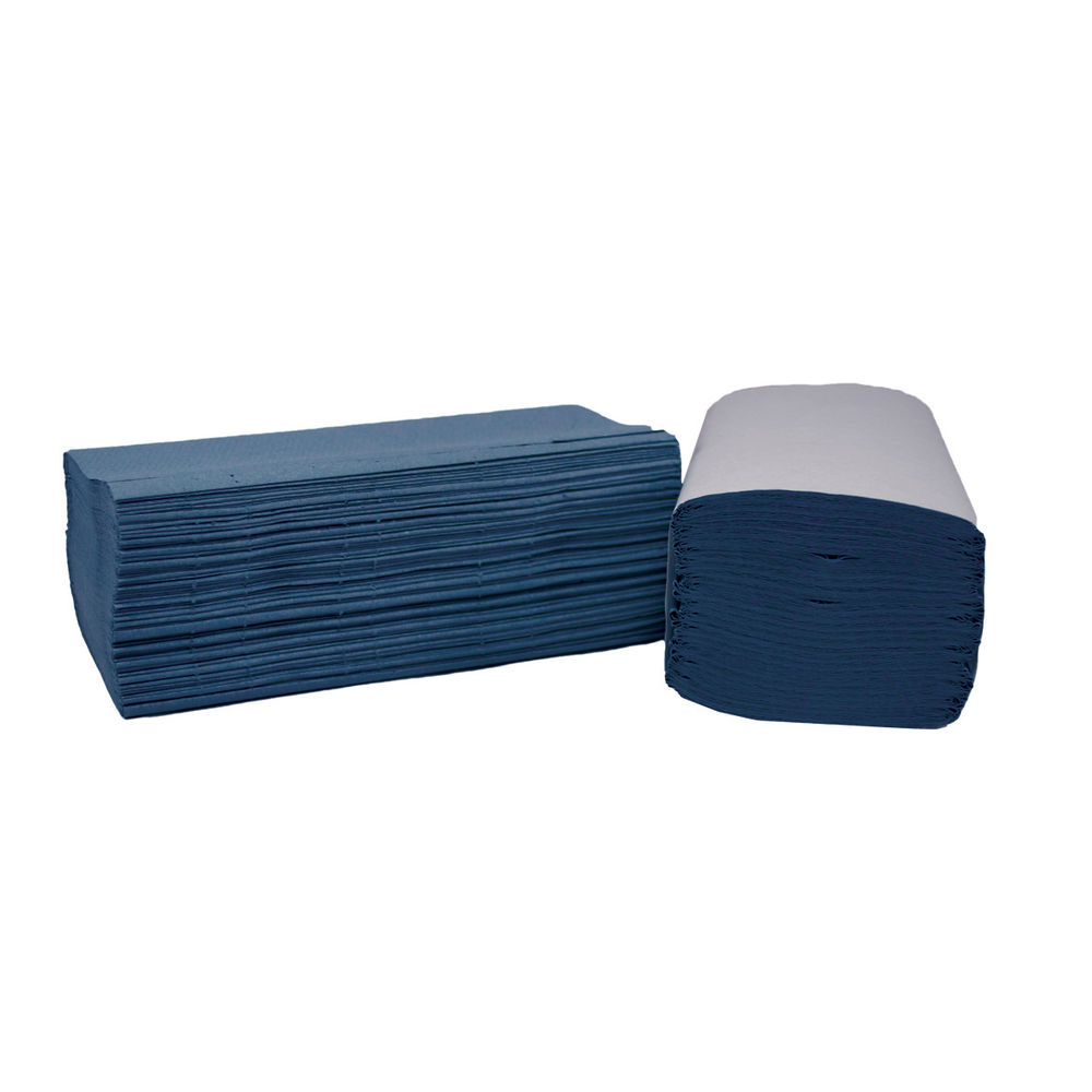 2Work I-Fold Blue 1 Ply, Paper Hand Towels - Pack of 3600 - HTBI360