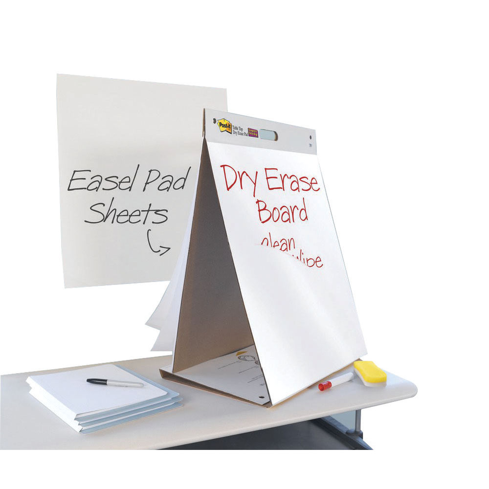 Post It Super Sticky Table Top Easel Pad Dry Erase Board