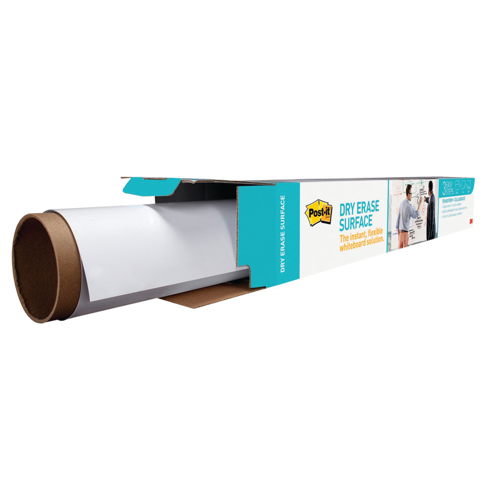 Super Sticky Post-it Dry Erase Film Roll, 15.24 x 1.21m - DEF50X4-EU