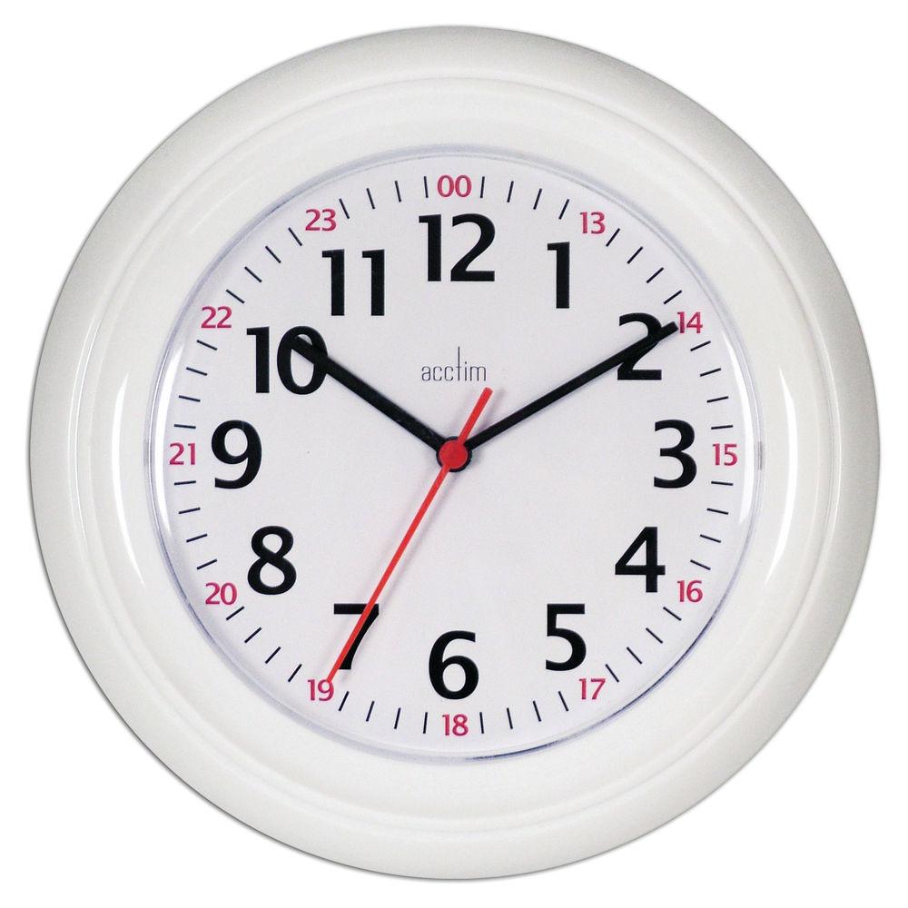 Acctim Wexham 24 Hour White Wall Clock - 21862