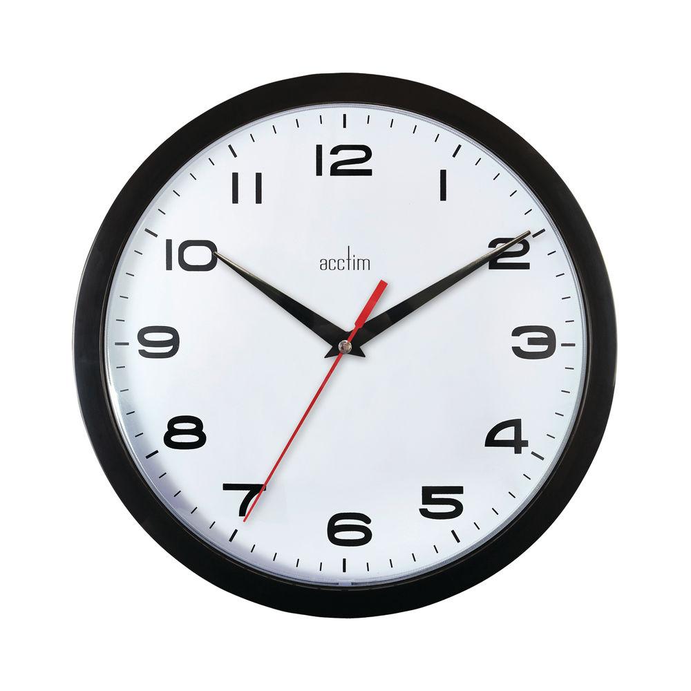 Acctim Aylesbury Black Wall Clock - 92/302