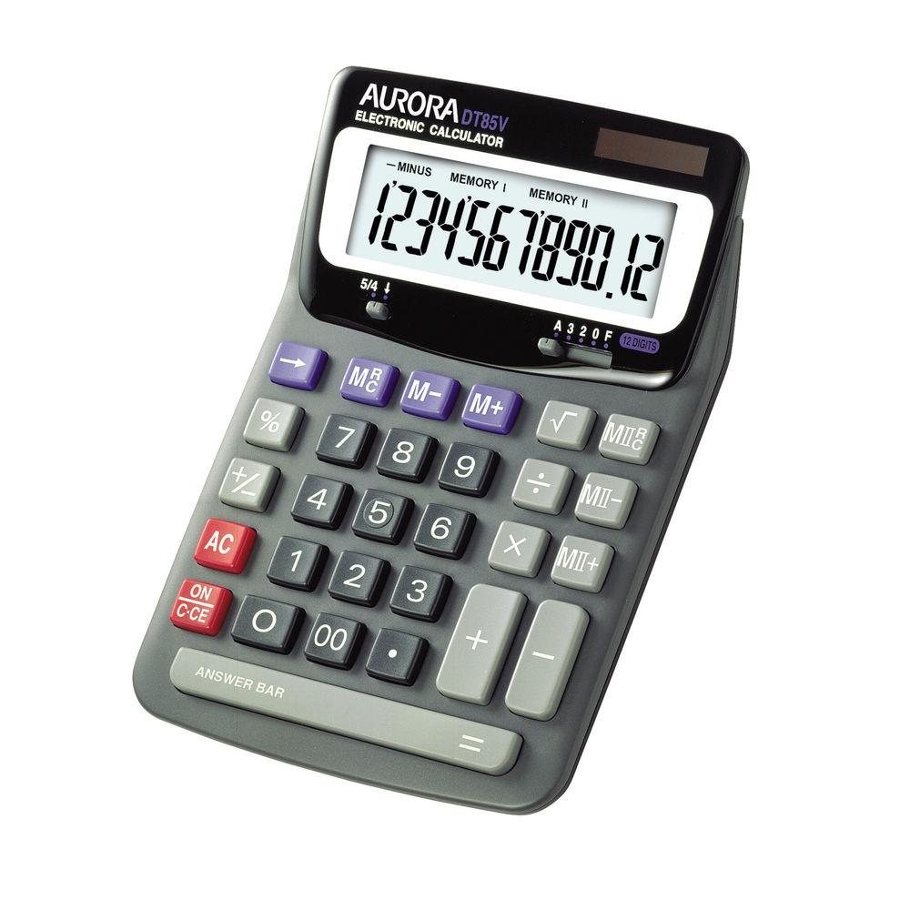 Aurora DT85V Desktop Calculator, 12 Digit Display - DT661
