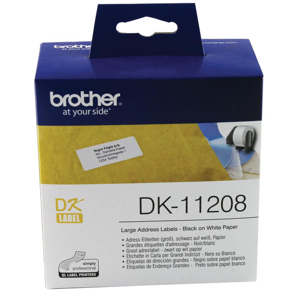 Brother Large Address Labels, Pack of 400 - DK-11208
