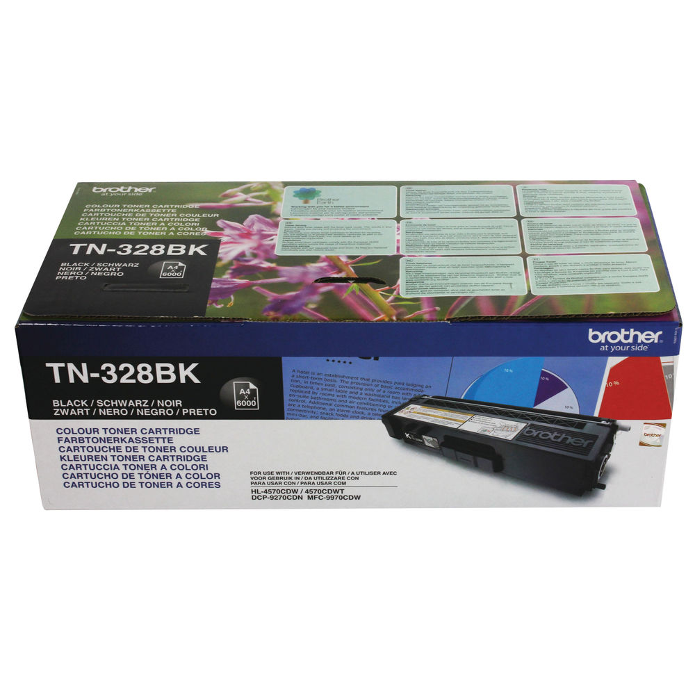 Brother TN328BK Black Super High Yield Laser Toner TN-328BK