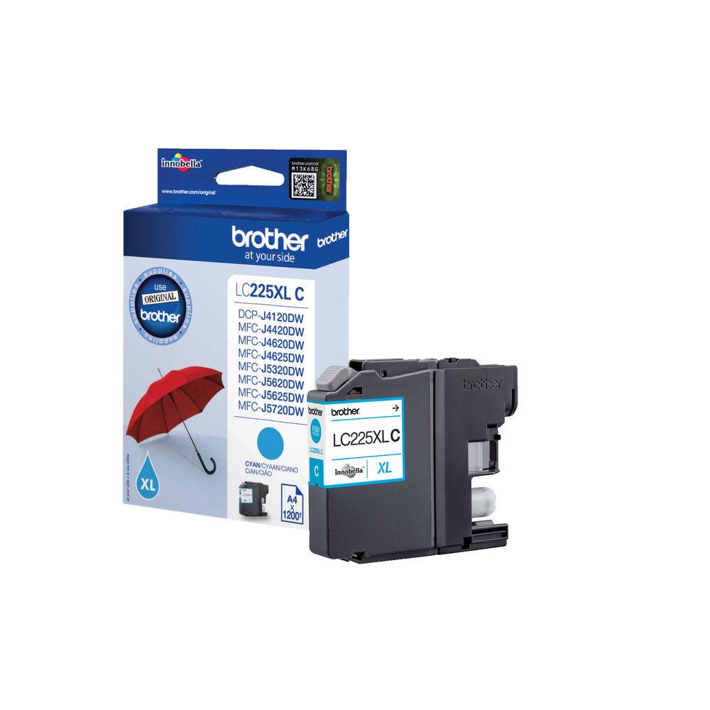Brother LC225XLC High Capacity Cyan Ink Cartridge - LC225XLC